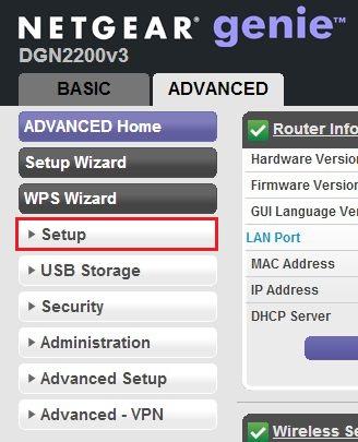 Netgear DGN-2200: DSL Modem Configuration - TOAST net